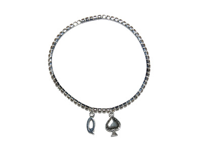 Sexy Diamante Rhinestone Queen of Spade Hotwife Anklet Ankle Jewellery BBC 1 Row