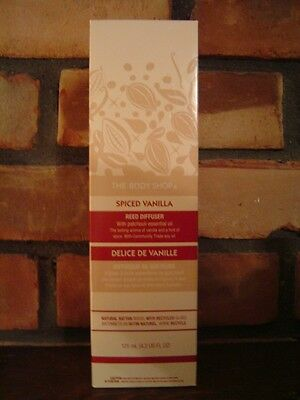 THE BODY SHOP SPICED VANILLA REED DIFFUSER - NEW - DISCONTINUED