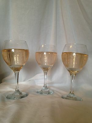 3 PartyLite Scents of Illumination Champagne Pear Wine Glass Tealight Holder