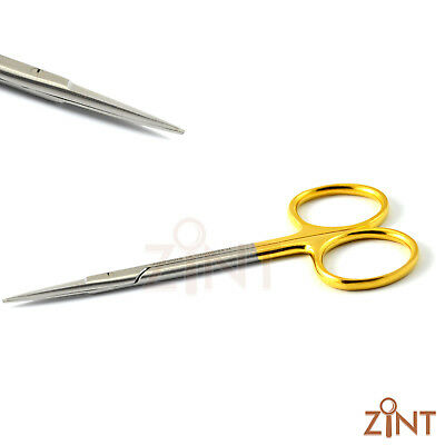 Dental Iris Scissor STR TC Tungsten Carbide Inserts 11.5cm Gum Scissor Surgical