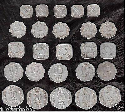 25 Coins- 5 Different  INDIA COINS--# u1519- FREE SHIPPING