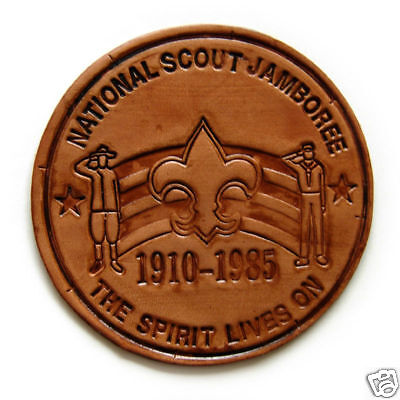 1985 National Jamboree LEATHER Patch - Mint Condition!
