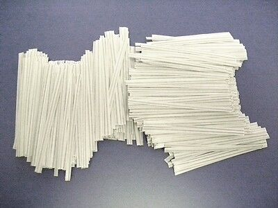 """500 Plastic Twist Ties White 6"""" Inches - General Use"""