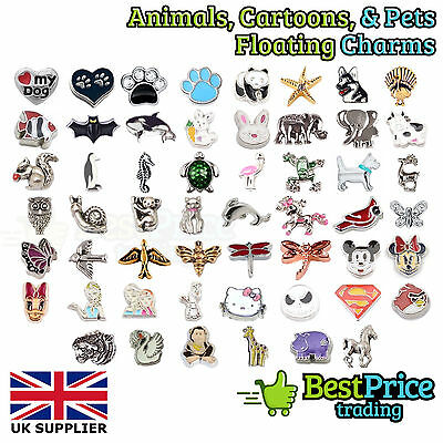 BEST QUALITY Floating Charm For Living Memory Locket *ANIMALS PETS CARTOON