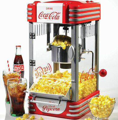Nostalgia Electrics Coca Cola Series RKP630COKE Kettle Popcorn Maker New