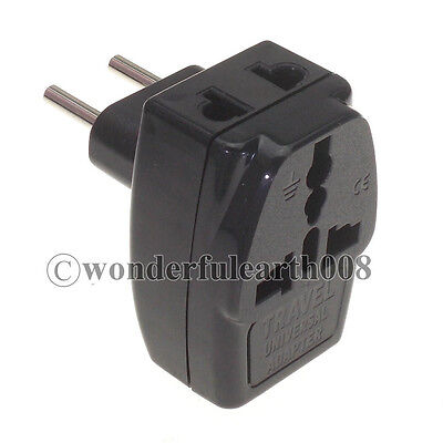 Europe EU 2 Pin Electrical Plug Travel Adapter 3 Way Outlet Universal Receptacle