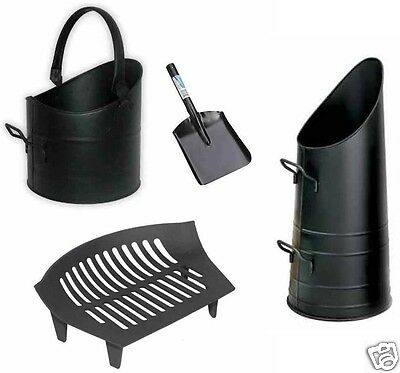 "Coal Hod Scuttle Bucket For Fireplace With Handle Shovel Fireside 10"" Chiltern"