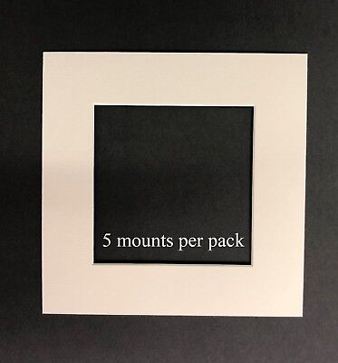 10 X 10 Inch White Mounts to fit 7 x 7 Photo & Picture - 5 PACK