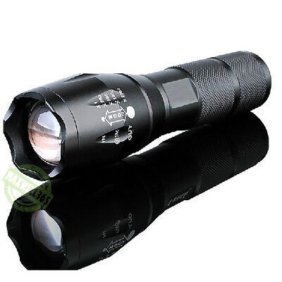 2200 Lumen Zoomable T6 LED Flashlight CREE XM-L Torch Without Recharge Battery..