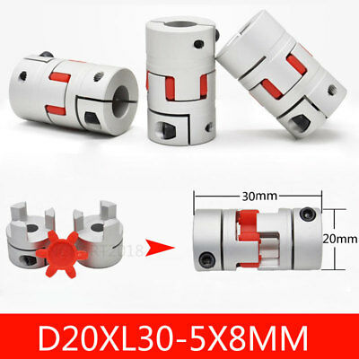 Motor Connector Shaft Coupler 5mm to 8mm Spider Jaw Plum Coupling D20xL30MM