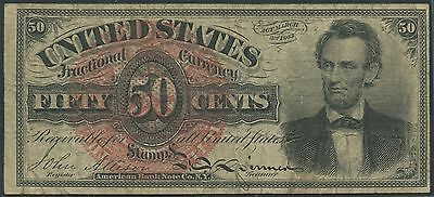 Fr1374 4Th Issue 50 Cents Fractional Currency Vf+ Br8961