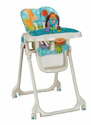 Fisher-Price Precious Planet Sky Blue High Chair, New