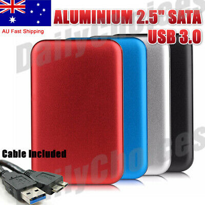 "USB 3.0 2.5"" SATA HDD Hard Drive External Enclosure Aluminum Slim Case"