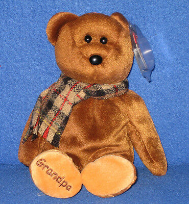 TY GRAMPS the BEAR BEANIE BABY - MINT with MINT TAGS -  TY STORE EXCLUSIVE
