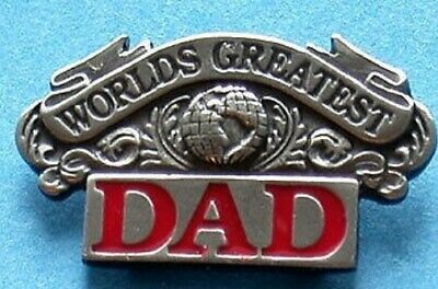 Worlds Greatest Dad For Father's Day Pewter Lapel Pin