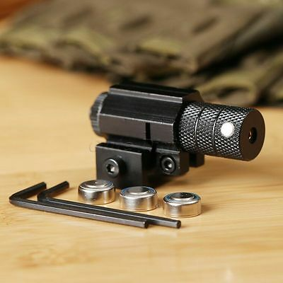 Tactical Red Dot Laser Sight Scope Weaver Picatinny Mount for Gun Rifle Pistol