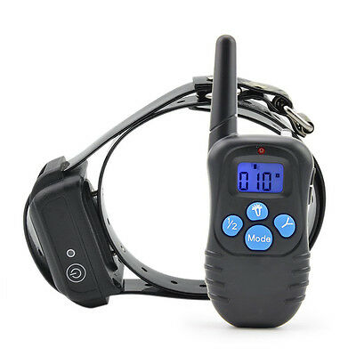 Rechargeable Waterproof Electronic Shock Remote Control Dog Training Collar