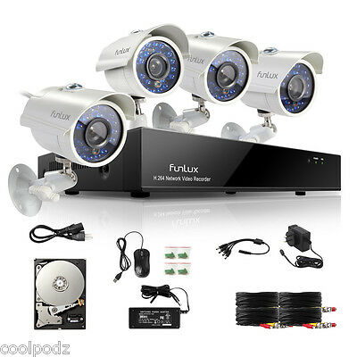 Funlux 960H DVR 700TVL Outdoor Indoor Home Video Security Camera System 500GB HD