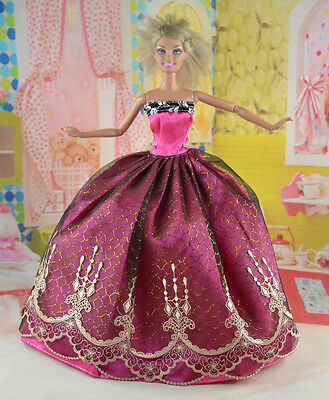 New Handmade Party Clothes Fashion Dress for Noble Doll  #y78