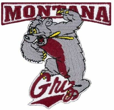 "University of Montana ""Griz"" Grizzlies Vintage RARE Embroidered Iron On Patch"