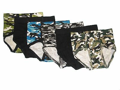 Hanes Boys Printed Brief Camo/solid ,Assorted 6 Pack, #B395j3(color May Vary
