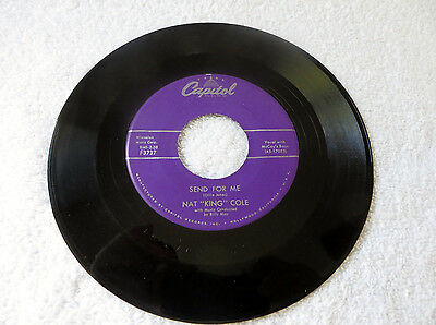 """Nat King Cole """"Send For Me-My Personal Possession""""/Capitol F3737/VG"""