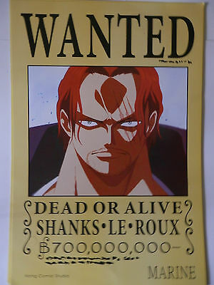 ONE PIECE POSTER SHANKS  WANTED 2  42x29 CM NEW