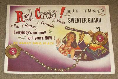 Elvis Presley Hit Tunes Sweater Guard RARE 1950's On Card