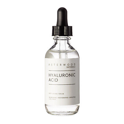Pure Hyaluronic Acid Serum Anti-Aging Wrinkle For Face 2oz Asterwood Naturals
