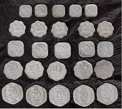 15 Coins- 5 Different INDIA COINS--# uk1519- FREE SHIPPING