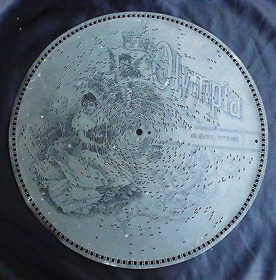 "1800'S 15 1/2"" OLYMPIA MUSIC BOX DISC - NO 4018"