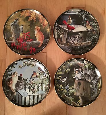 "Persis Weirs ""Nosy Neighbors"" Cat Plates #1-4"