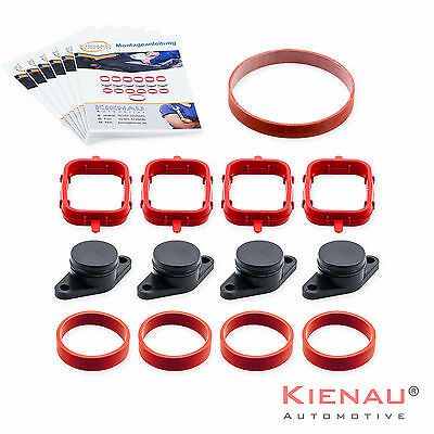 4 x 22mm BMW Swirl Flap Replacement Removal Blanks  Manifold with Viton Gaskets