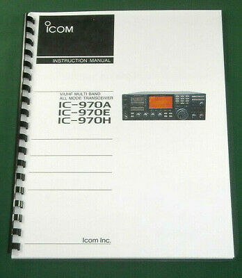 Icom IC-970A/E/H Instruction Manual - Premium Card Stock & Protective Covers!