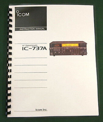 Icom IC-737A Instruction Manual - Premium Card Stock & Protective Covers!