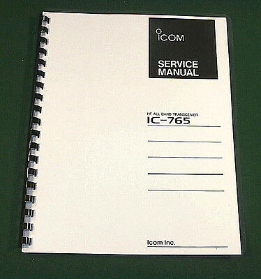 Icom IC-765 Service Manual - Premium Card Stock Covers & 28 LB Paper!