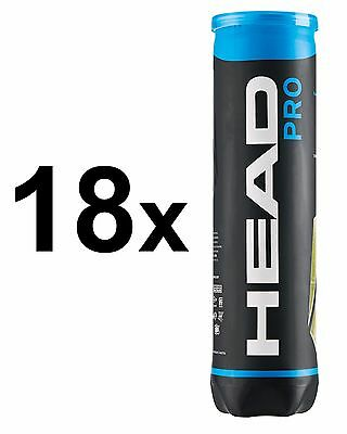 18x Head - Pro 4er gelb Tennisbälle *** Aktion! ***