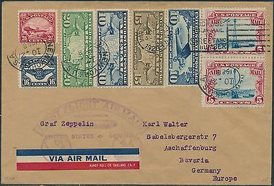#c5-C11 On Zeppelin First Flight Cover Us To Germany Br9131