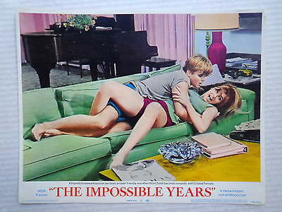 The Impossible Years Lobby card movie poster vtg 1968 beatnik artist pin up