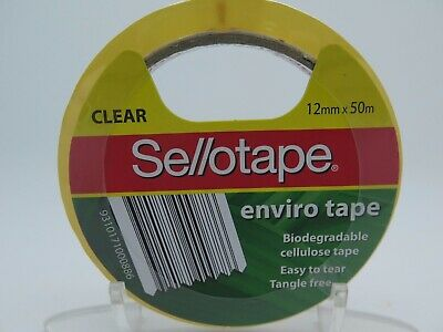 Sellotape Clear Packaging Tape Vine 66 12mm x 50M Biodegradable 960804