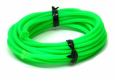 UV Green Cable Sleeving braiding - 5 metres x 3mm