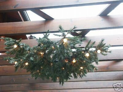 Christmas Tree Hanging Chandelier Holiday lite Light Fixture Greenery Garland