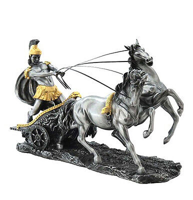 Roman Chariot Statue Sculpture Figurine - Ships Immediately !