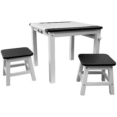 US Art Supply Childrens Art Drawing Hobby Play Table & Benches w/ Paper Roll