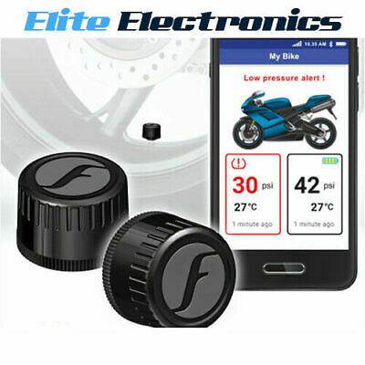 FOBO TYRE BLUETOOTH 4.0 DIY TYRE PRESSURE MONITOR SYSTEM TPMS BLACK iOS ANDROID
