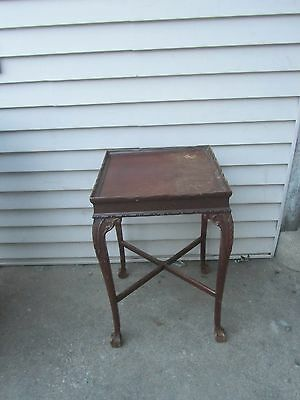 Antique Chippendale Ball Claw Wood Tea Table