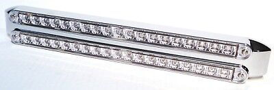 LED light bracket double bar clear reflector lens 19 red LEDs for Peterbilt KW