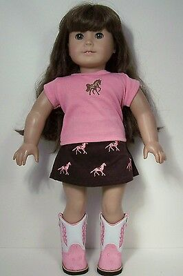"Debs PINK Cord-Corduroy Bellbottom Pants Doll Clothes For 18/"" American Girl"