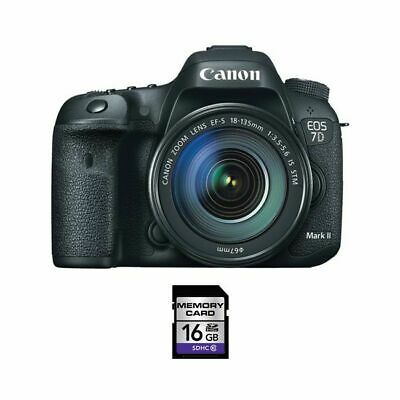 Canon EOS 7D Mark II DSLR Camera w/18-135mm Lens & 16GB SDHC Card