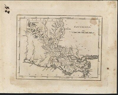 Louisiana 1817 by M. Carey scarce early engraved antique state map